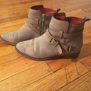 Coach ankle boot Leoda suede slate veg leather